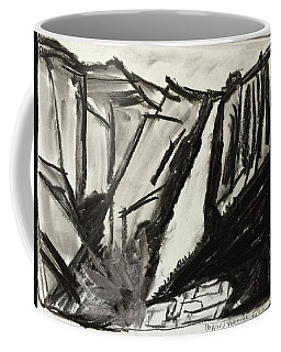 Coffee Mug featuring the drawing Yosemite Falls by Brenda Pressnall