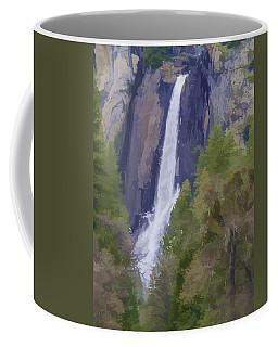 Yosemite Falls Digital Watercolor Coffee Mug