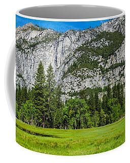 Yosemite Valley Meadow Panorama Coffee Mug