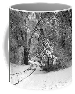 Yosemite Valley Winter Trail Coffee Mug
