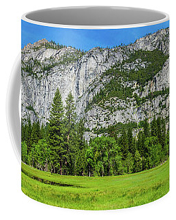 Yosemite West Valley Meadow Panorama #2 Coffee Mug