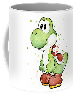 Yoshi Watercolor Coffee Mug