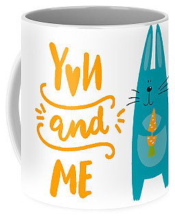 Coffee Mug featuring the digital art You And Me Bunny Rabbit by Edward Fielding