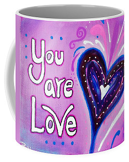You Are Love Purple Heart Coffee Mug