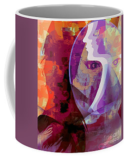 Coffee Mug featuring the mixed media You Can Beat It by Fania Simon