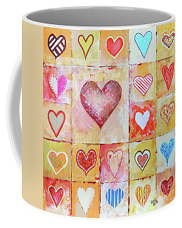 Coffee Mug featuring the painting You Can Only See Clearly With Your Heart by Jutta Maria Pusl