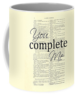 You Complete Me, Love Poster Coffee Mug