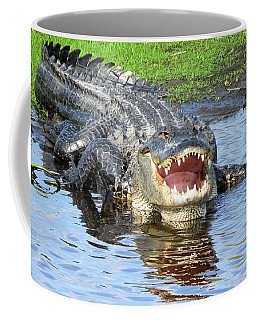 You May Think I'm Smiling Coffee Mug by Rosalie Scanlon