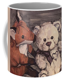 Coffee Mug featuring the painting You Should Not Trust Her by Olimpia - Hinamatsuri Barbu