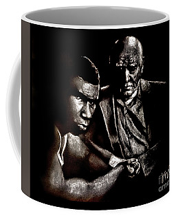 Young Boxer And Soon To Be World Champion Mike Tyson And Trainer Cus Damato Coffee Mug