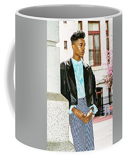 Coffee Mug featuring the photograph Young Boy Thinking Outside 15042638 by Alexander Image