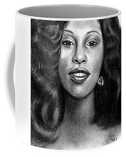 Young Chaka Khan - Charcoal Art Drawing Coffee Mug