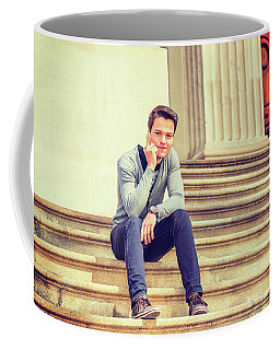Coffee Mug featuring the photograph Young College Student 15042515 by Alexander Image