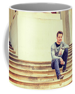 Coffee Mug featuring the photograph Young College Student On Campus 15042514 by Alexander Image