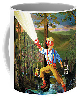 Coffee Mug featuring the painting Young Explorer by Donna Hall