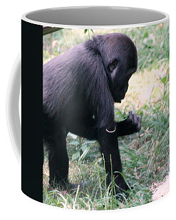 Young Gorilla Coffee Mug by Laurel Talabere