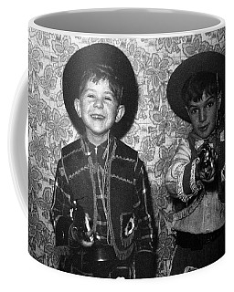 Young Gunslingers 1950 Coffee Mug by Peter Gumaer Ogden