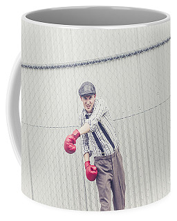 Young Male Boxer Throwing A Offensive Jab Coffee Mug
