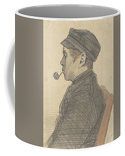 Coffee Mug featuring the painting Young Man With A Pipe Nuenen, March 1884 Vincent Van Gogh 1853 - 1890 by Artistic Panda