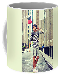 Young Russian Man Traveling In New York Coffee Mug
