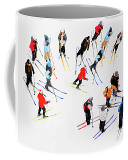 Young Skiers Coffee Mug