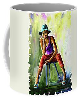 Young Woman Coffee Mug by Anthony Mwangi