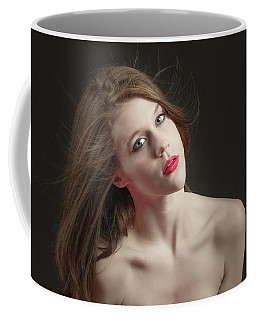 Coffee Mug featuring the photograph Young Woman Headshot With Beautiful Skin by William Lee