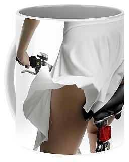 Young Woman On A Bicycle Coffee Mug