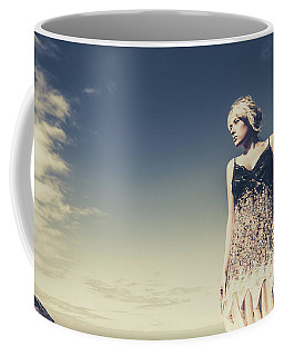 Young Woman Standing On The Beach Coffee Mug