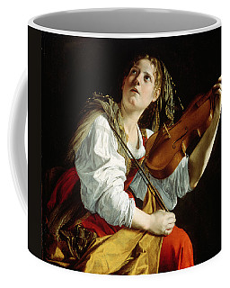 Young Woman With A Violin Coffee Mug