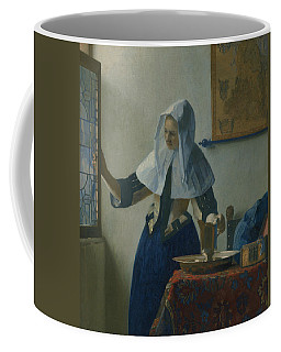 Young Woman With A Water Pitcher  Coffee Mug