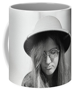 Young Woman With Long Hair, Wearing A Pith Helmet, 1972 Coffee Mug