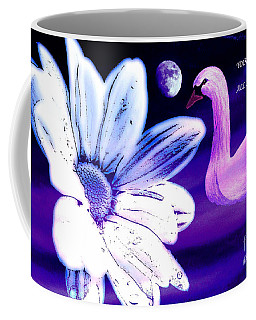 Your Beauty With Swan Moon And White Flower Coffee Mug