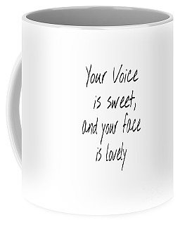 Coffee Mug featuring the digital art Lovely Face by Jessica Eli