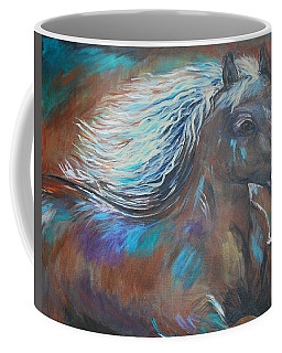 Coffee Mug featuring the painting Your Majesty by Leslie Allen