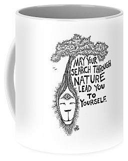 Your Search Through Nature Tree Drawing Coffee Mug