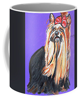 Coffee Mug featuring the painting Your Yorkie by Nora Shepley