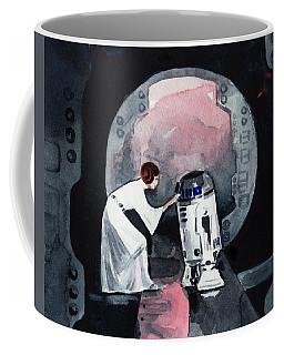 You're My Only Hope Princess Leia And R2d2 Coffee Mug