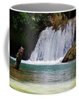 Y S Falls  South Coast, St Elizabeth Parish   Jamaica Coffee Mug by Elaine Manley