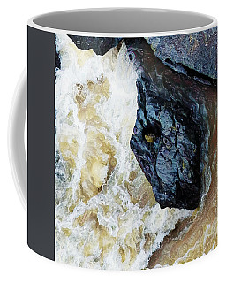 Yuba Blue Boulder In Stormy Waters Coffee Mug