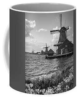 Coffee Mug featuring the photograph Zaanse Schans Windmills by James Udall