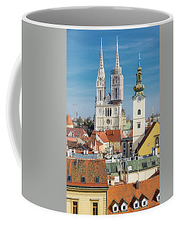 Zagreb Cathedral And St. Mary's Church Coffee Mug by Steven Richman