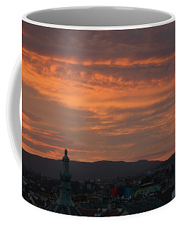 Coffee Mug featuring the photograph Zagreb Sunset by Steven Richman
