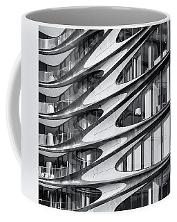 Coffee Mug featuring the photograph zaha hadid Architecture in NYC by Michael Hope