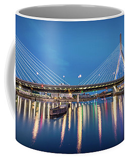 Zakim Bridge And Charles River At Dawn Coffee Mug