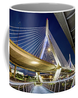 Zakim Bridge From Bridge Under Another Bridge Coffee Mug