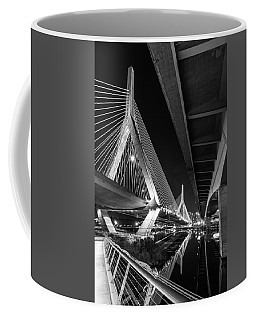 Zakim Bridge From Under The Leverett Connector Bridge Coffee Mug