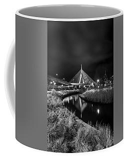 Zakim Bridge Reflecting Under A Moody Sky Coffee Mug