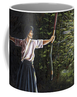 Coffee Mug featuring the painting Zanshin by Hiroko Sakai