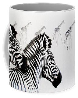 Zebra And Giraffe Coffee Mug